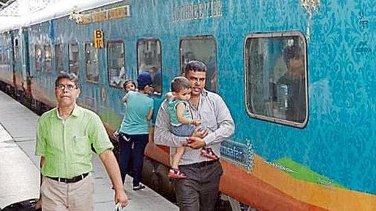 An AC3-tier coach in a Humsafar Express train (HT File Photo)