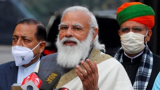 Prime Minister Narendra Modi in New Delhi, India, January 29, 2021. (REUTERS)
