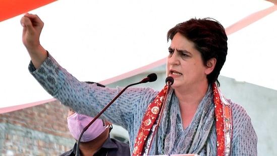 Congress leader Priyanka Gandhi Vadra.(ANI)