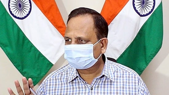 Delhi health minister Satyendar Jain said on Wednesday that the Centre will soon say there is no Covid-19 pandemic.(ANI file photo)