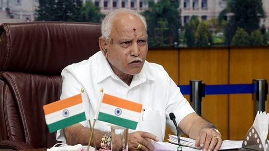 One of the pontiffs who attended the meeting said that Yediyurappa told them that he would abide by the BJP high command's decision.(ANI)