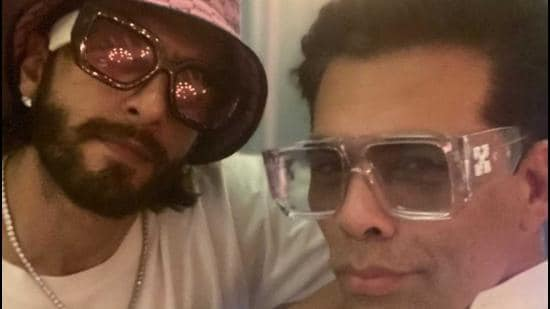 Karan Johar took to Instagram to share a picture with Ranveer Singh from his visit to the city.