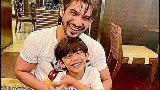 Actor Arjun Bijlani with his six-year-old son, Ayaan.