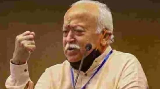 """Rashtriya Swayamsevak Sangh chief Mohan Bhagwat on Wednesday said the Citizenship (Amendment) Act and National Register of Citizens would not harm India's Muslim citizens while urging the voters """"to check"""" those who try to politicise the issues on communal lines. (HT File Photo)"""