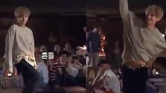 Cantora BTS V realizando dança do ventre em Dubai.