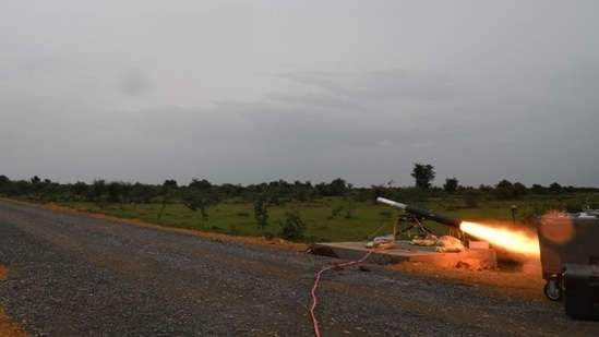 DRDO said the missile hit the target in direct attack mode and destroyed the same with precision. (ANI image)