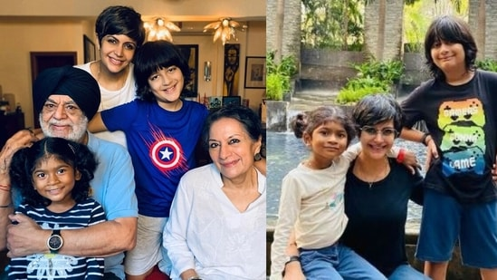 Mandira Bedi shares a picture with her family.