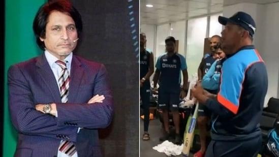 Former Pakistan cricketer Ramiz Raja lauds Rahul Dravid(HT Collage)