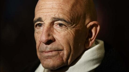 A file photo of Tom Barrack before a meeting with Donald Trump in New York. (AP/FILE)