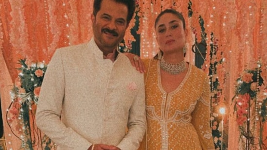 Kareena Kapoor and Anil Kapoor seem to have shot together for a jewellery brand.