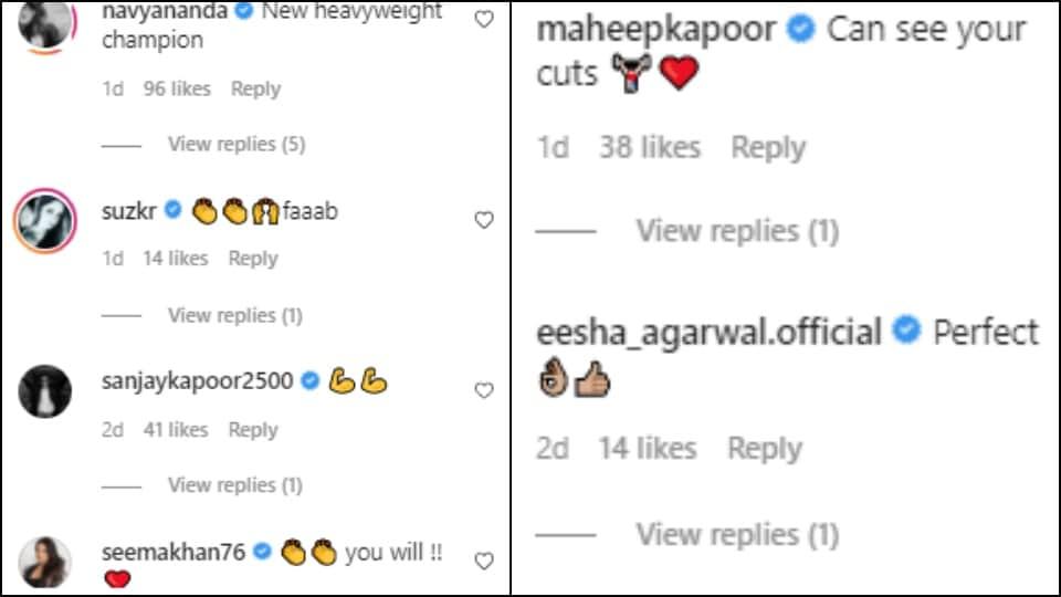 Comments on Shanaya Kapoor's post