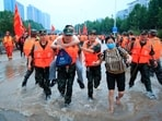 The torrential rain has affected about three million people in Henan province and a total of 376,000 local residents have been relocated to safe places, the provincial emergency management department said. (AP/PTI)