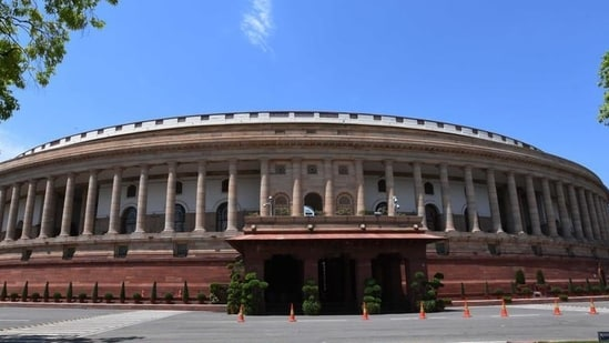 A view of Parliament House.