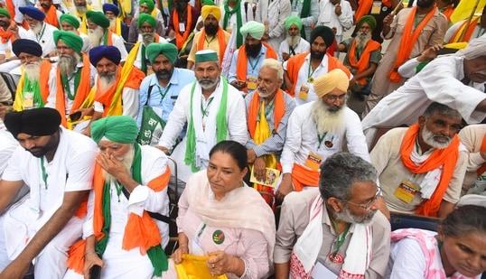 BKU leader Rakesh Tikait also condemned the incident. (Raj K Raj / Hindustan Times)