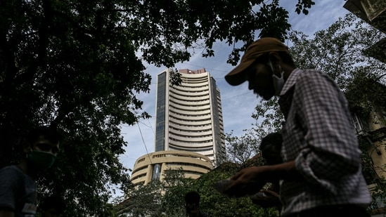 Tech Mahindra was the top gainer in the Sensex pack, jumping over 5 per cent, followed by Bajaj Finance, Bharti Airtel, Bajaj Finserv, L&T, Tata Steel and Infosys.(Bloomberg)