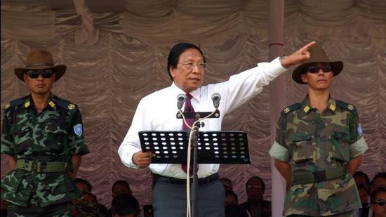 NSCN-IM leader Thuingaleng Muivah. (HT archive)