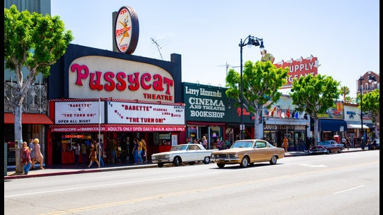 The 2018 movie set of Once Upon a Time in Hollywood. (Shutterstock)