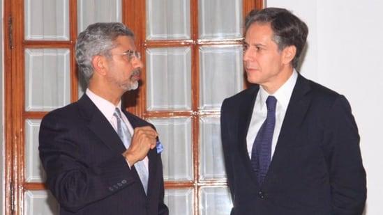 Foreign minister S Jaishankar with US Secretary of State Antony Blinken.