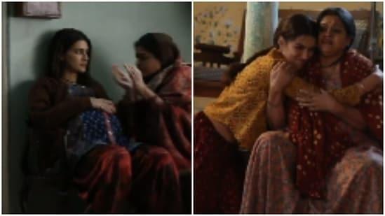 Kriti Sanon with Supriya Pathak in Mimi.
