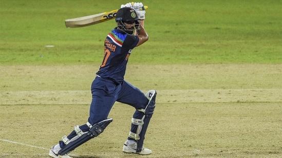 Deepak Chahar carves the ball through covers. (Twitter)