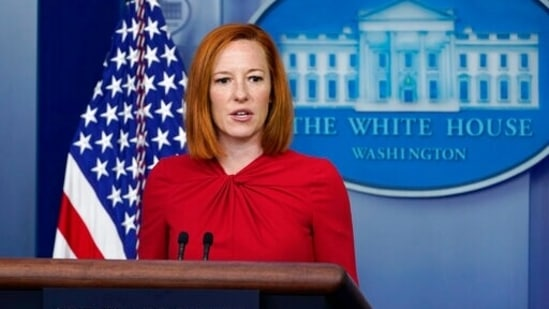White House press secretary Jen Psaki speaks during a daily briefing at the White House in Washington.(AP)