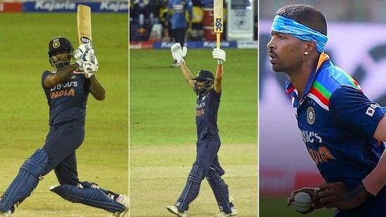 Hardik Pandya (Extreme right) scored a duck, while Deepak Chahar (M) and Suryakumar Yadav got important runs. (Getty Images)