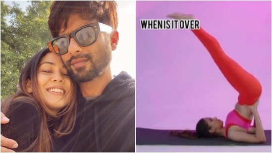 Mira Rajput shows what she thinks during yoga session in funny expectation vs reality video(Instagram/@mira,kapoor)