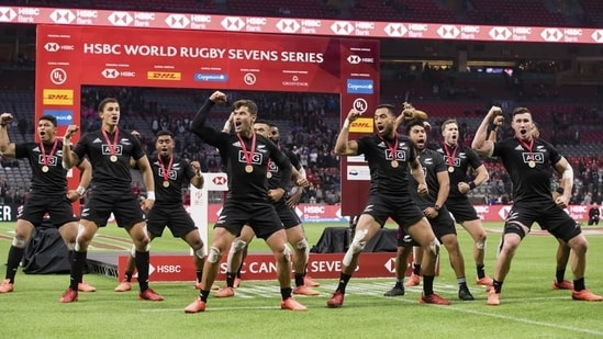 File image of New Zealand players performing the haka.(AP)