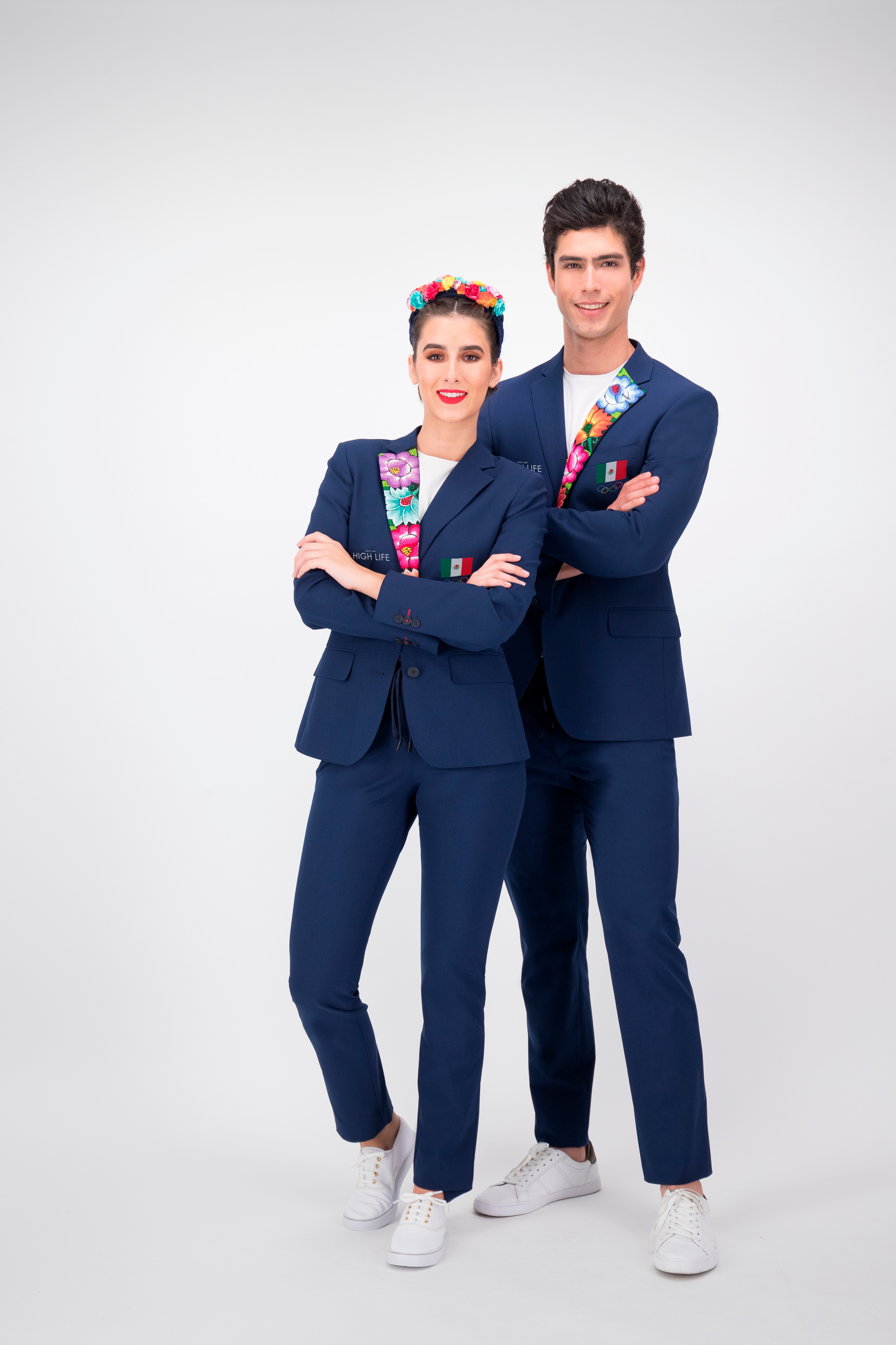 This image provided by High Life Mexico shows the opening ceremony outfits for team Mexico. The Mexico Olympic Committee held a national online competition to choose the looks from three designs done by High Life. The winning design honors Oaxaca in a single, brightly colored lapel. (High Life Mexico via AP)(AP)
