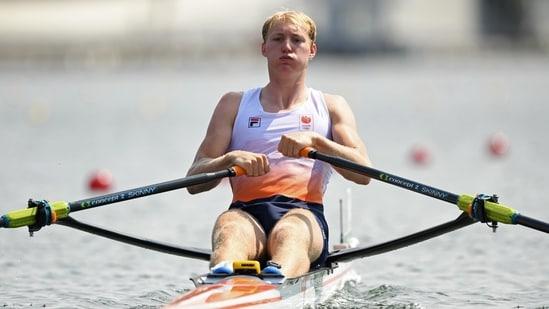 Tokyo 2020 Olympics - Rowing - Men's Single Sculls - Heats - Sea Forest Waterway, Tokyo, Japan - July 23, 2021. Finn Florijn of the Netherlands in action REUTERS/Piroschka Van De Wouw(REUTERS)