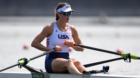 Tokyo 2020 Olympics - Rowing - Women's Single Sculls - Heats - Sea Forest Waterway, Tokyo, Japan - July 23, 2021. Kara Kohler of the United States before competing REUTERS/Piroschka Van De Wouw(REUTERS)