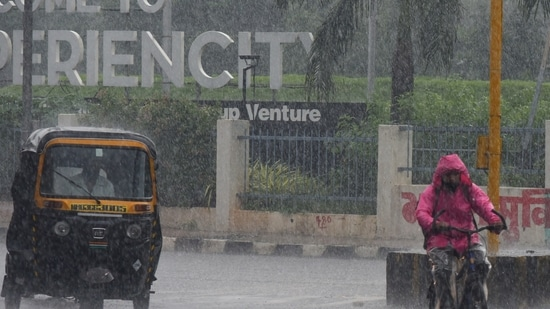 The total rainfall this month stands at 1,040mm and this is the fourth successive year where rains in July have breached the 1000mm-mark.(Vijay Bate/HT Photo)