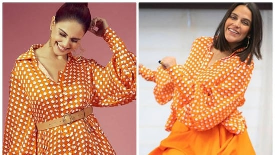 And as one can imagine, since both Neha and Genelia have very different sartorial senses, they styled the same shirt dress in a totally different fashion and we are absolutely in love.(Instagram)