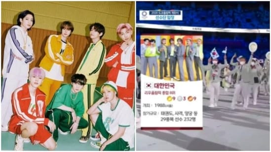 BTS has featured in the Tokyo Olympics opening ceremony.