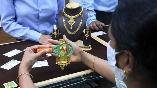 Gold prices edged lower in the global markets and were heading for their first weekly decline in five. (File Photo)