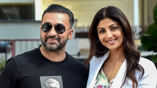 Police on Friday recorded Bollywood actor Shilpa Shetty's statement regarding Raj Kundra's alleged pornographic video streaming app. (PTI)
