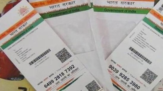 It is important for citizens to keep the details in the Aadhar Card updated at all times as even the slightest of errors can stall their work.(HT file photo)