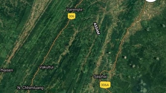 The tension between both states along the interstate border with Mizoram and Hailakandi escalated after Assam Police conducted a drive to clear land allegedly encroached by some persons across the border.(Google Maps)