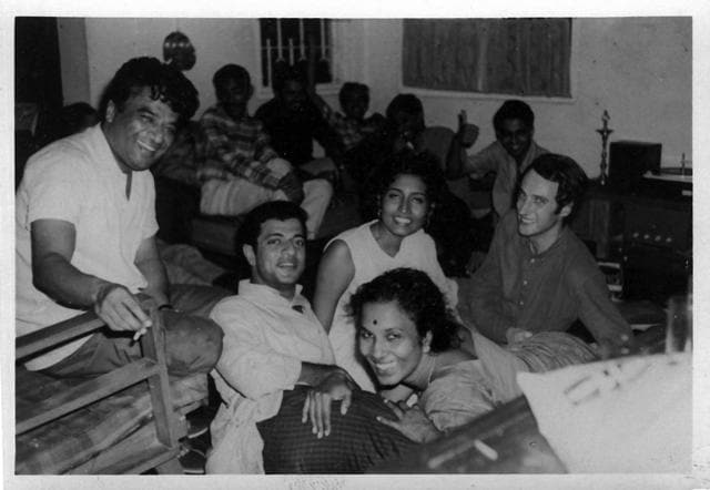 With Ammu Mathew and other Madras Players (Courtesy HarperCollins)