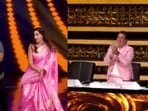 Nora Fatehi dances to Chikni Chameli with Ganesh Acharya while Govinda cheers them on.