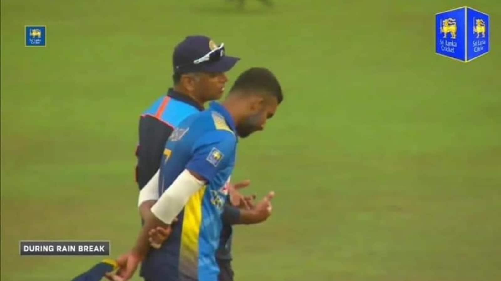IND vs SL: Dravid's words of wisdom for Sri Lanka captain Dasun Shanka  during rain break   Cricket - Hindustan Times