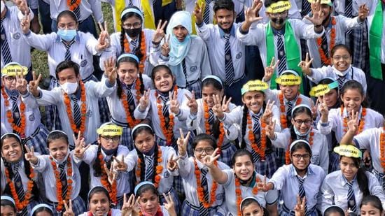 Students at a Lucknow school. (SOURCED)