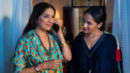 Neena Gupta and her daughter Masaba Gupta in a still from Masaba Masaba.