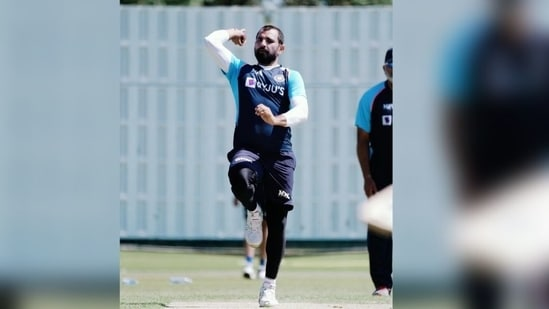 Mohammed Shami during training session(Twitter / Mohammed Shami)
