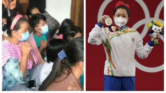 Mirabai Chanu's family and friends celebrate her silver in Tokyo Olympics
