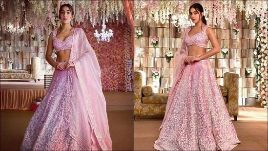 Sara Ali Khan drops steamy Eid look in Manish Malhotra's pink Chikankari lehenga(Instagram/manishmalhotra05)