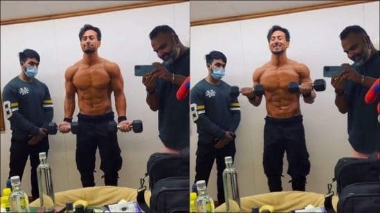 Build muscle size like Tiger Shroff with bicep curls, here are its health benefits(Instagram/tigerjackieshroff)