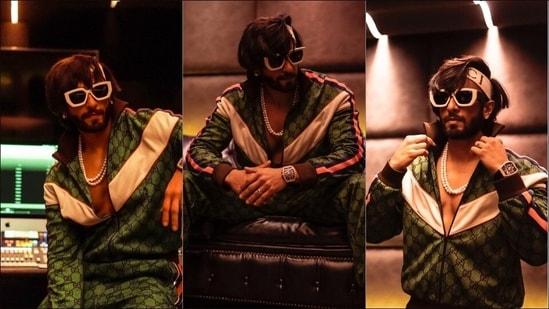 Ranveer Singh experiments with retro fashion in Gucci's <span class='webrupee'>₹</span>2.7 lakh tracksuit(Instagram/ranveersingh)