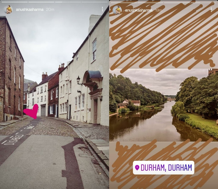 Anushka Sharma shared pictures from her visit to Durham.