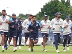 Indian players during a training session in England(BCCI)